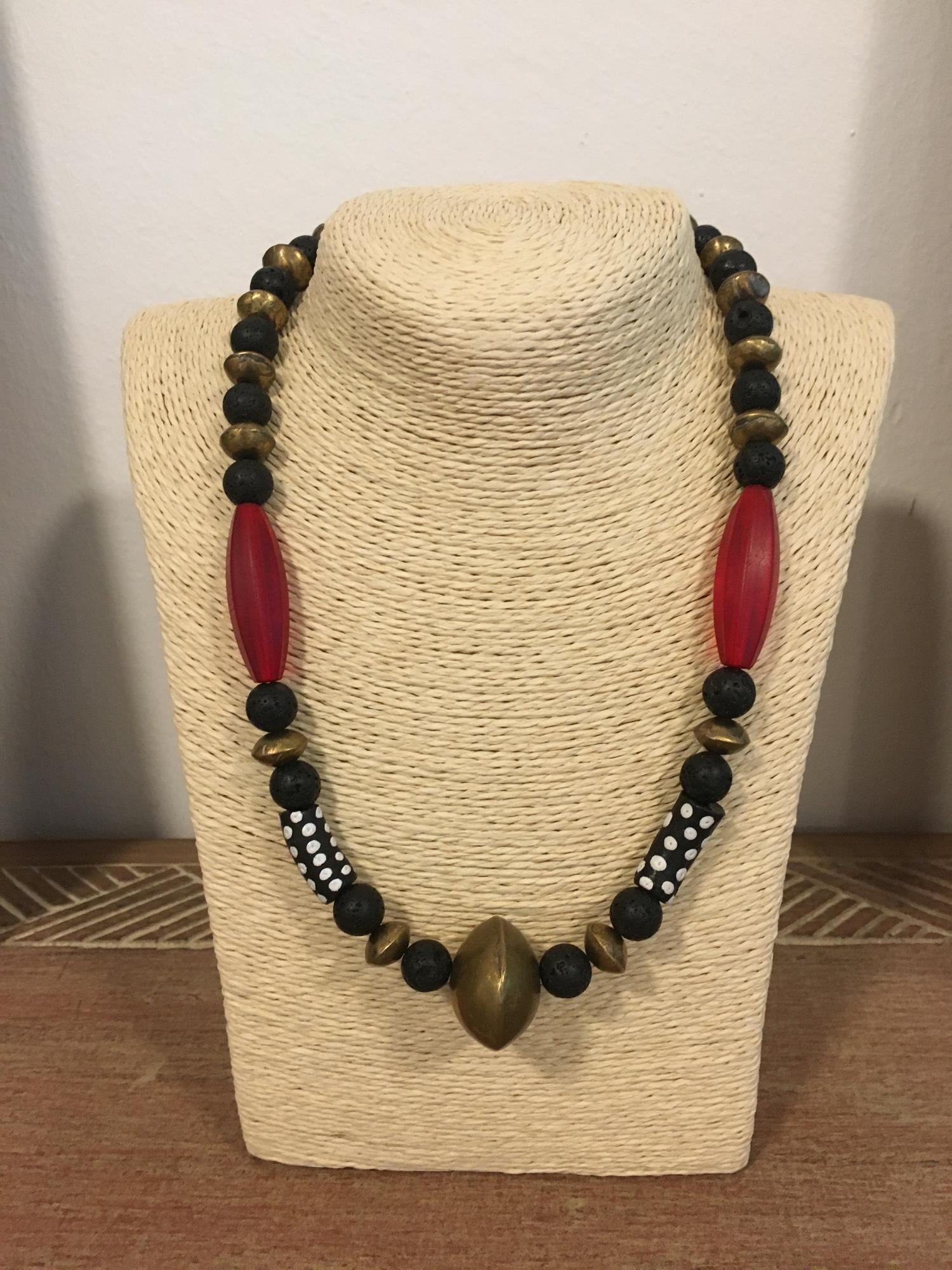 Czech Glasstubes, Krobobeads, Lava, Tuareggold, African Beads Design