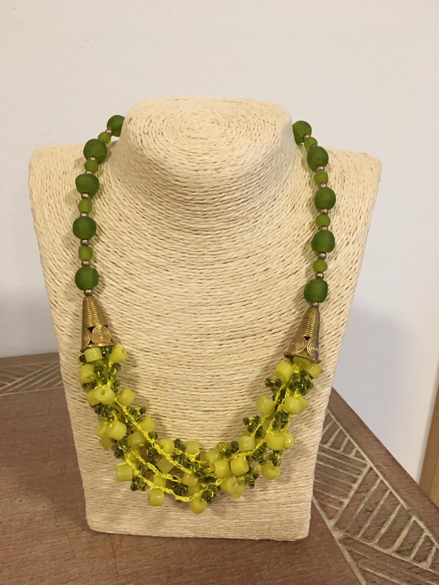 African Beads Design-Brass-recycled Glasbeads