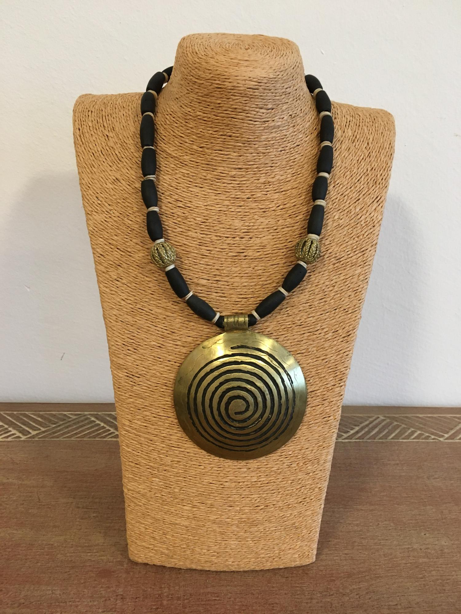 Tribal Statementkette - African Beads Design