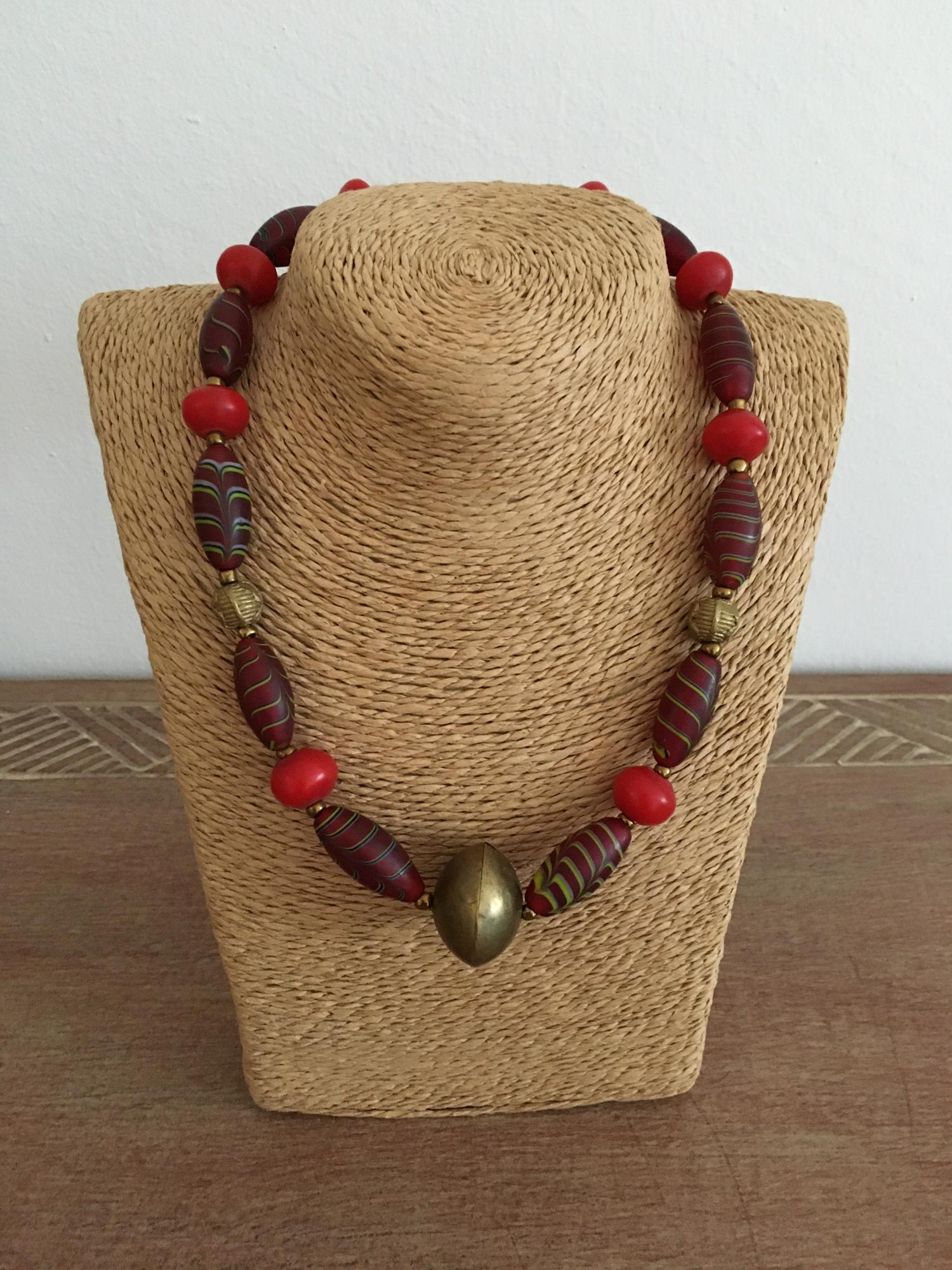 rote Featherbeads African Beads Design