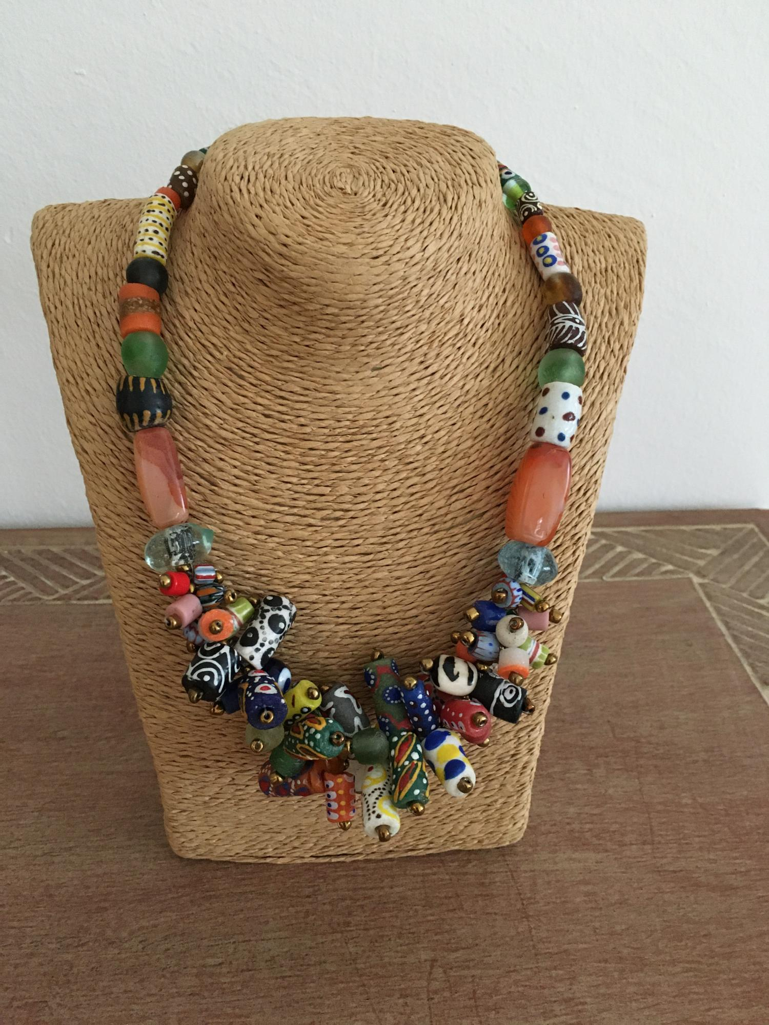 Statementkette African Beads Design